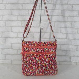 Vera Bradley Pixie Bloom Triple Zip Hipster Bag